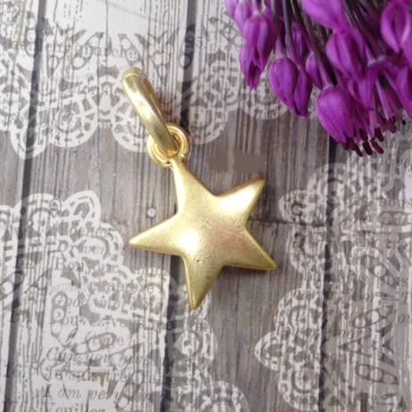Sence Copenhagen Gold Plated Star Charm Pendant