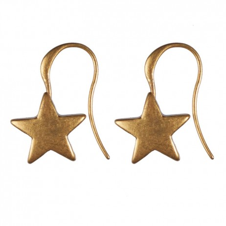 Hultquist Jewellery Starraine Gold Plated Star Hook Earrings