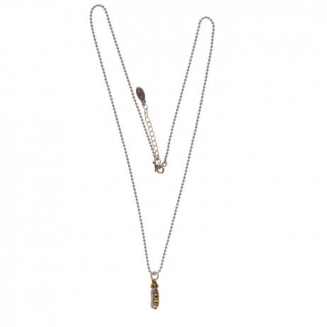 Hultquist Jewellery Mini Pea Pod Bi Colour Long Necklace - EOL
