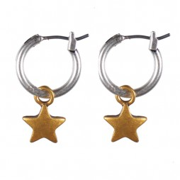 Hultquist Jewellery Starraine Bi Colour Hoop EarringsHultquist Jewellery Starraine Bi Colour Hoop Earrings