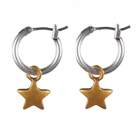 Hultquist Jewellery Starraine Bi Colour Hoop Earrings