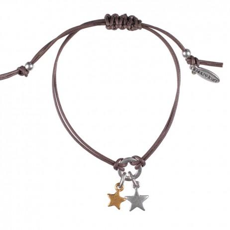 Hultquist Jewellery Starraine Bi Colour Brown Macrame Bracelet