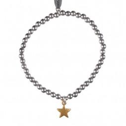 Hultquist Jewellery Bi Colour Star Bracelet