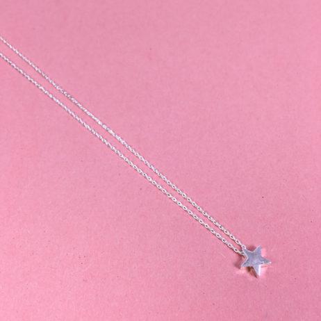 Estella Bartlett Small Silver Plated Bright Star Necklace