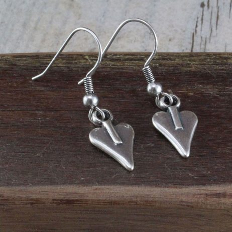 Danon Jewellery Mini Silver Heart Drop Earrings