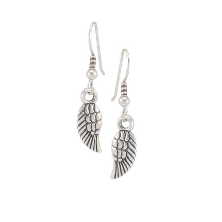 Danon Jewellery Mini Silver Wings Earrings - EOL