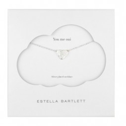 Estella Bartlett Silver Plated Always In My Heart Necklace