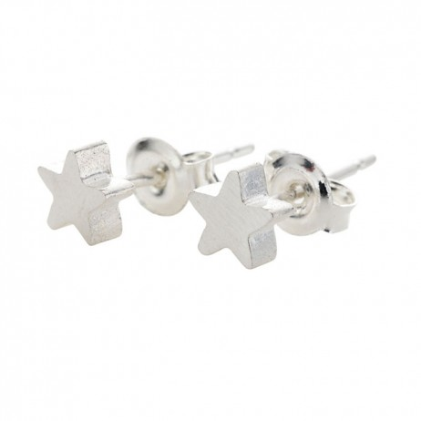 Estella Bartlett Silver Plated Mini Star Earrings