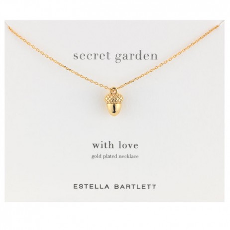 Estella Bartlett Gold Plated Acorn Necklace