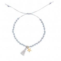 Estella Bartlett Silver Plated Friendship Ali Tassel Bracelet