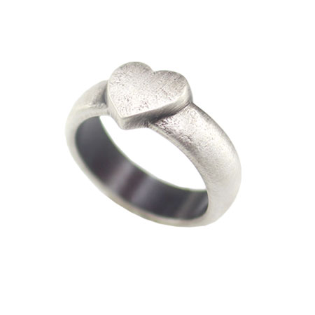 Danon Jewellery Silver Heart Ring - EOL