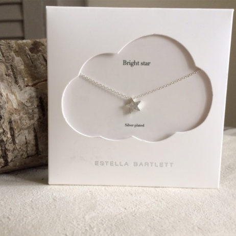 Estella Bartlett Small Silver Plated Bright Star Necklace