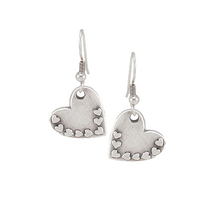 Danon Jewellery Silver Heart Design Earrings - EOL
