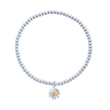 Estella Bartlett Silver Plated Sienna Wild Flower Bracelet