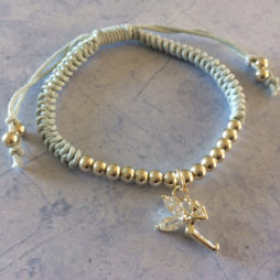 Little Ella Children's Powder Blue Fairy Charm Friendship Bracelet