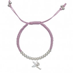 Little Ella Children's Silver Plated Ballet Shoes Necklace
