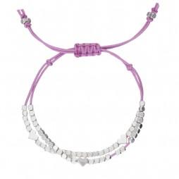 Little Ella Children's Lucy Hearts Lavender Friendship Bracelet