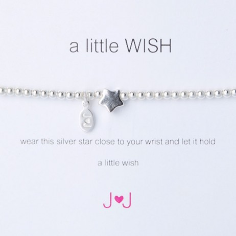 Joma Jewellery a little wish silver bracelet 168 - EOL