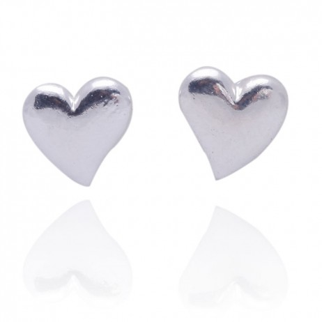 Joma Jewellery Mila Silver Heart Stud Earrings