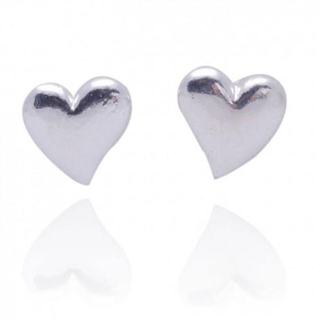 Joma Jewellery Mila Silver Heart Stud Earrings 298