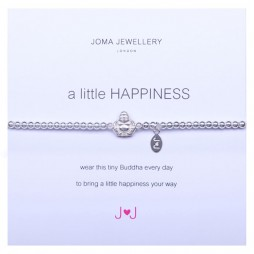 Joma Jewellery a little happiness silver buddha bracelet 331