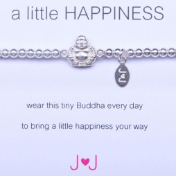 Joma Jewellery a little happiness silver buddha bracelet