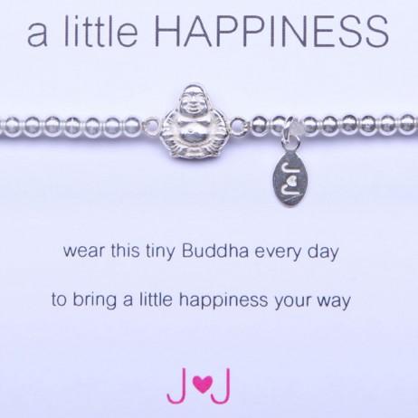 Joma Jewellery a little happiness silver buddha bracelet 331