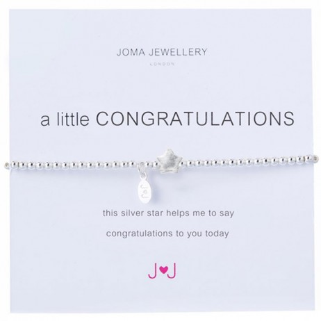 Joma Jewellery a little congratulations bracelet 364