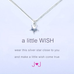 Joma Jewellery a little wish silver necklace