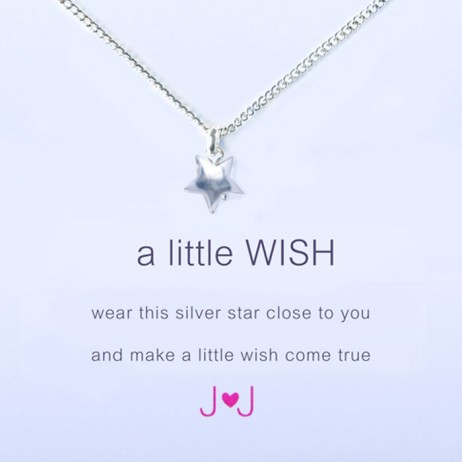 Joma Jewellery a little wish silver necklace 477