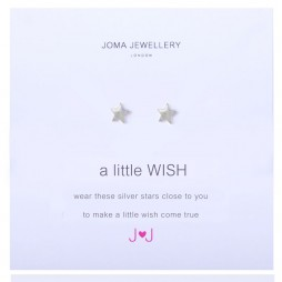 Joma Jewellery a little wish silver earrings