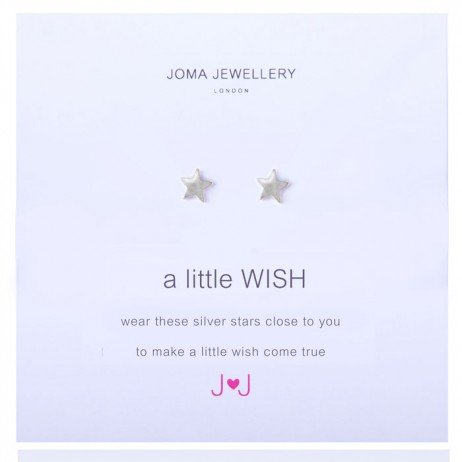 Joma Jewellery a little wish silver earrings 478 - EOL