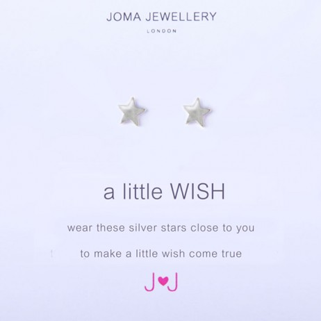 Joma Jewellery a little wish silver earrings 478