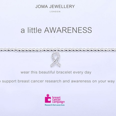 Joma Jewellery a little Awareness Silver Pave Charity Ribbon Bracelet 690