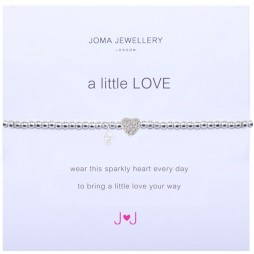 Joma jewellery a little love sparkly heart bracelet 852