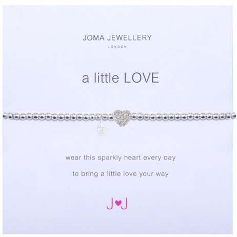 Joma jewellery a little love sparkly heart bracelet