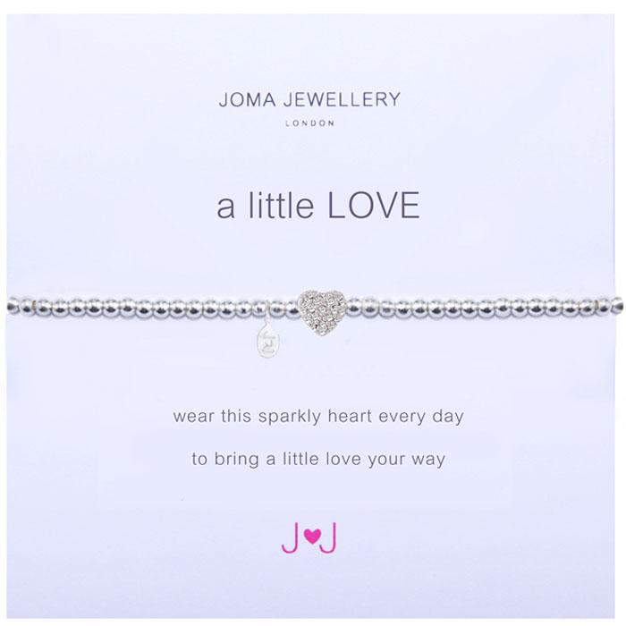 Joma Jewellery a little love sparkly heart bracelet (852) E6Ag6