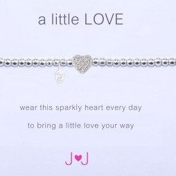 Joma Jewellery a little love sparkly heart bracelet