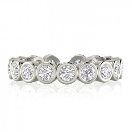 Joma Jewellery Silver Carolina Crystal Infinity Ring 921