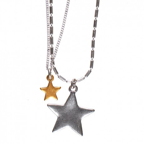 Hultquist Jewellery Silver and Gold Starraine Short Necklace