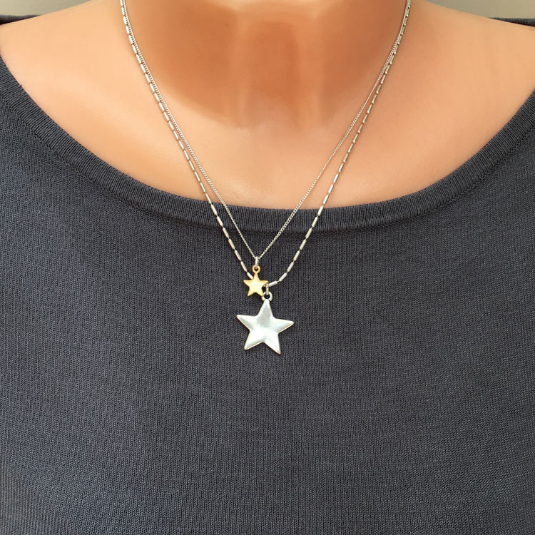 Hultquist Jewellery Silver Gold Starraine Short Necklace