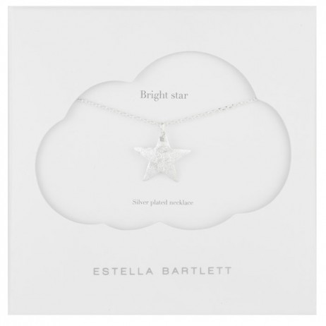 Estella Bartlett Large Silver Plated Bright Star Necklace