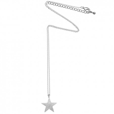 Estella Bartlett Large Silver Plated Bright Star Necklace - EOL