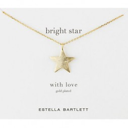 Estella Bartlett Large Gold Plated Bright Star Necklace