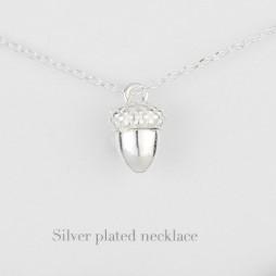 Estella Bartlett Silver Plated Acorn Necklace