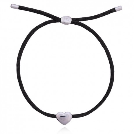 Joma Jewellery Black Silk Kiko Friendship Bracelet 1035