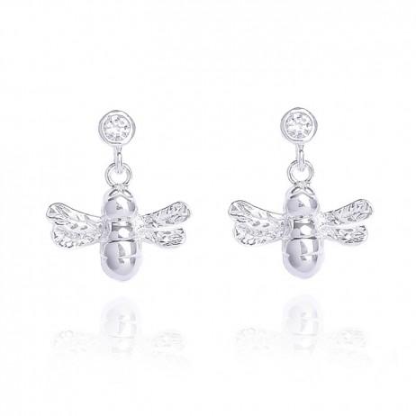 Joma Jewellery Silver Bumble Bee Earrings