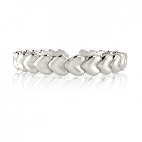 Joma Jewellery Silver Sweetheart Infinity Heart Ring