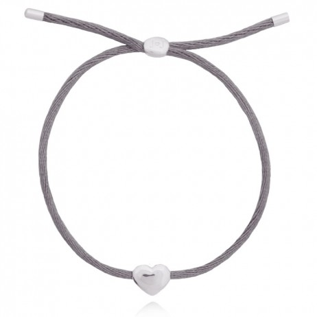 Joma Jewellery Grey Silk Kiko Friendship Bracelet 1033