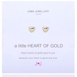 Joma Jewellery a little Heart of Gold Earrings 519